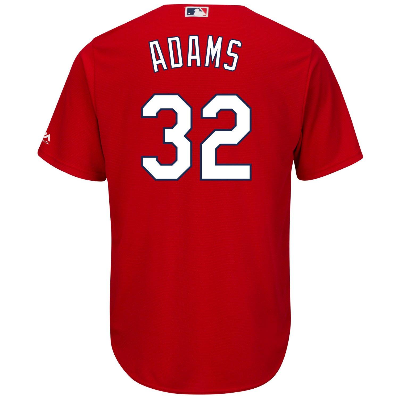 Majestic Men's St. Louis Cardinals Matt Adams #32 Cool Base Replica Jersey - view number 2