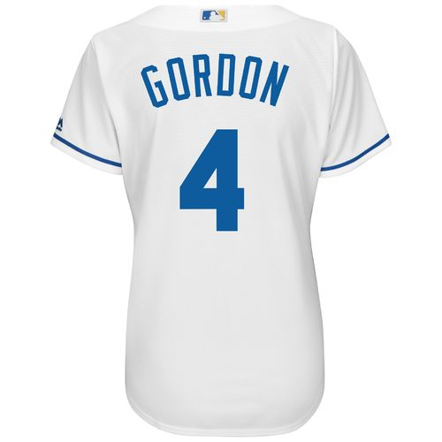 Majestic Women's Kansas City Royals Alex Gordon #4 Cool Base® Replica Alternate Jersey