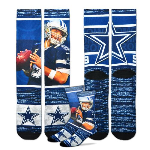 For Bare Feet Unisex Dallas Cowboys Tony Romo Flashback Sublimated Socks