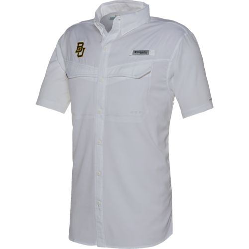 Columbia Sportswear™ Men's Baylor University Low Drag Offshore Short Sleeve Shirt