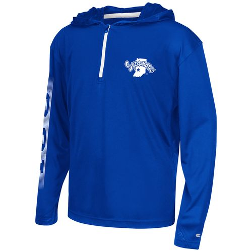Colosseum Athletics™ Boys' Indiana State University Sleet 1/4 Zip Hoodie Windshirt
