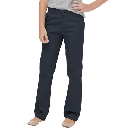 Dickies Girls' Flat Front Pant