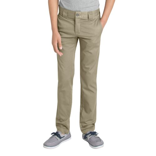 Dickies Boys' Flex Skinny Fit Straight Leg Uniform Pant