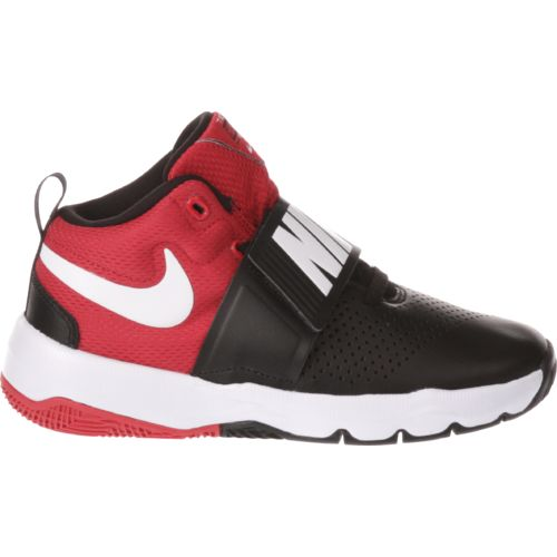 Display product reviews for Nike Boys' Team Hustle Basketball Shoes