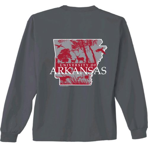 New World Graphics Men's University of Arkansas Sportsman Long Sleeve T-shirt