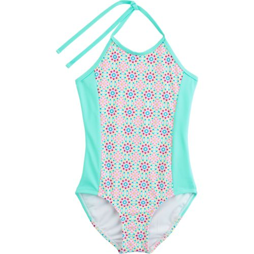 O'Rageous Kids Girls' Light Medallion 1-Piece Bathing Suit