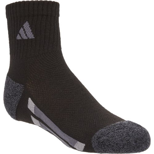 adidas™ Boys' Vertical Stripe Quarter Socks 6 Pairs