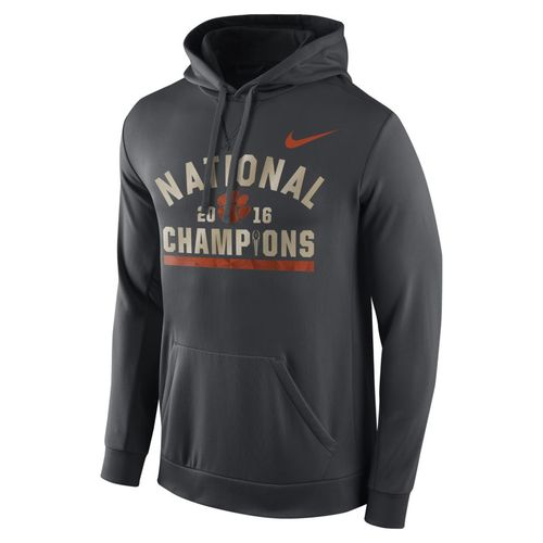 Nike Men's Clemson University 2016 National Champions Celebration Stripe Circuit Hoodie