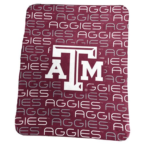Logo Texas A&M University 50 in x 60 in Classic Fleece Blanket