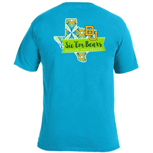 Image One Women's Baylor University Pattern Scroll State T-shirt