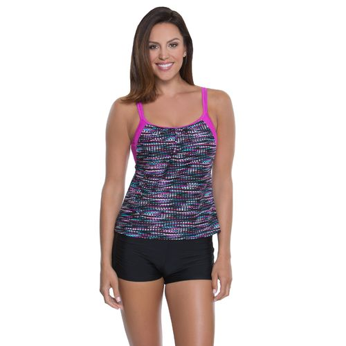 BCG Women's Pieced Together Tankini Swim Top