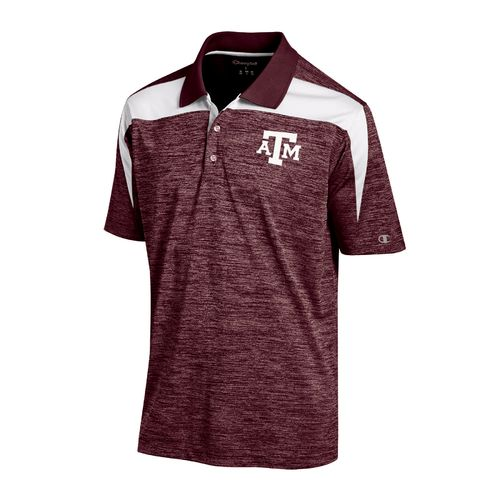 Display product reviews for Champion Men's Texas A&M University Synthetic Colorblock Polo Shirt