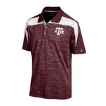 Champion Men's Texas A&M University Synthetic Colorblock Polo Shirt - view number 1