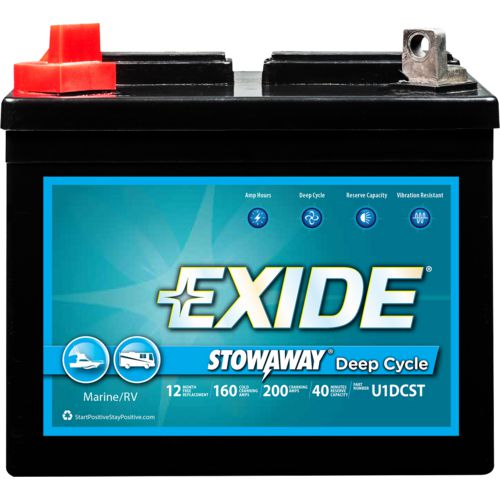 Exide Stowaway Deep-Cycle Utility Battery