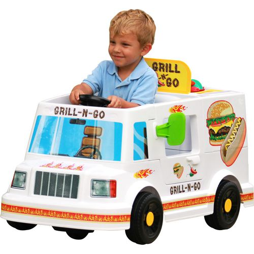 RollPlay 6 V Kids' Grill n Go Food Truck Ride-On