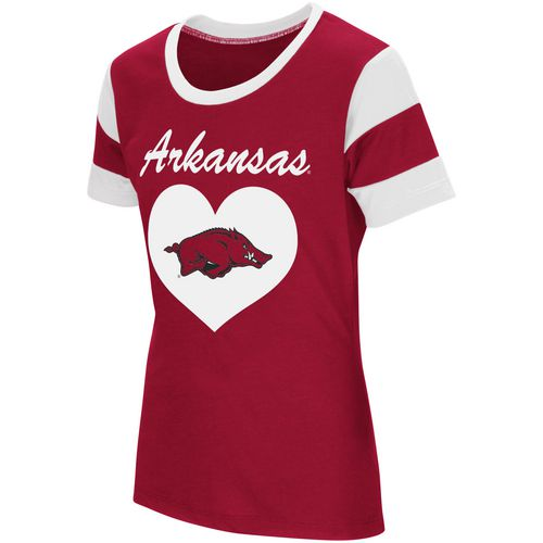 Colosseum Athletics Girls' University of Arkansas Bronze Medal Short Sleeve T-shirt
