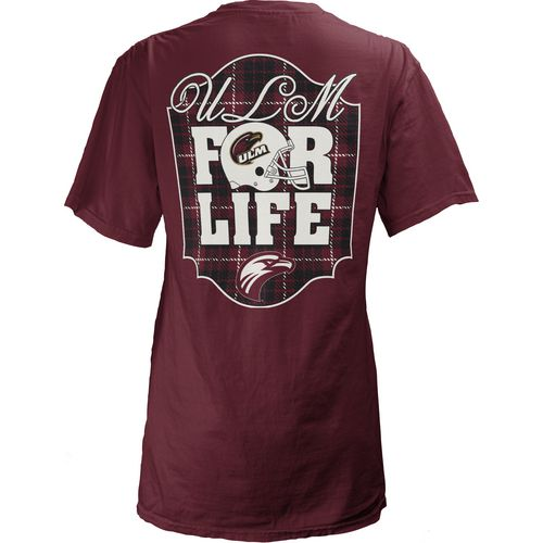 Three Squared Juniors' University of Louisiana at Monroe Team For Life Short Sleeve V-neck T-shi