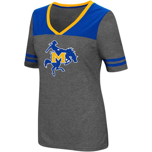 Colosseum Athletics Women's McNeese State University Twist V-neck 2.3 T-shirt - view number 1