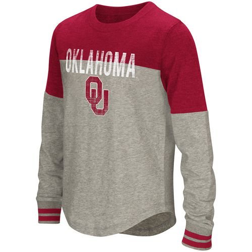 Colosseum Athletics Girls' University of Oklahoma Baton Long Sleeve T-shirt