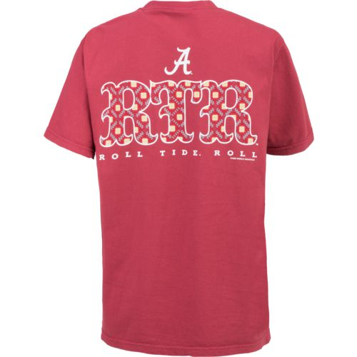 New World Graphics Women's University of Alabama Comfort Color Initial Pattern T-shirt - view number 1