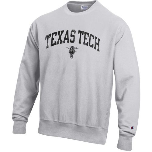 Champion Men's Texas Tech University Reverse Weave Crew Sweatshirt
