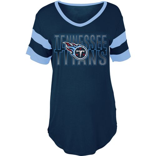 5th & Ocean Clothing Women's Tennessee Titans Sleeve Stripe Fan T-shirt