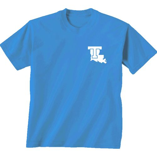 New World Graphics Women's Louisiana Tech University Comfort Color Initial Pattern T-shirt - view number 2