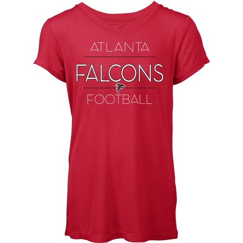 5th & Ocean Clothing Women's Atlanta Falcons Between the Lines T-shirt
