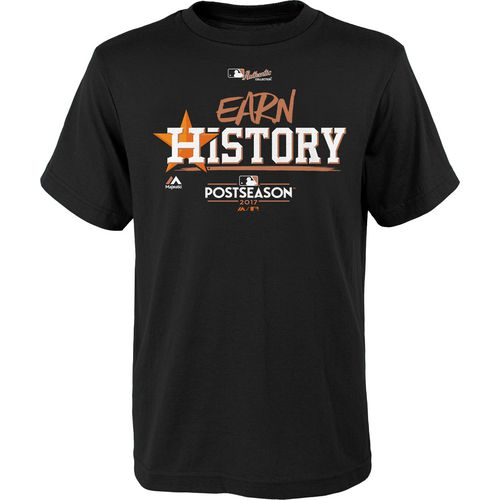 Majestic Kids Astros Division Clinch Earn History Locker Room T-Shirt