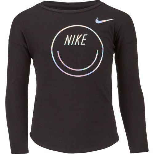 Nike Girls' Smiley Modern Long Sleeve T-shirt