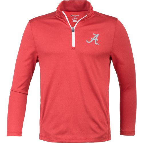 Champion Men's University of Alabama Victory 1/4 Zip Long Sleeve Pullover