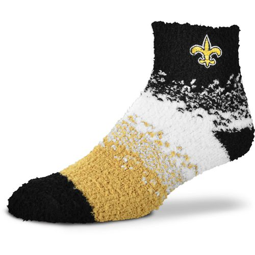 For Bare Feet Women's New Orleans Saints Marquee Sleep Soft Quarter Socks