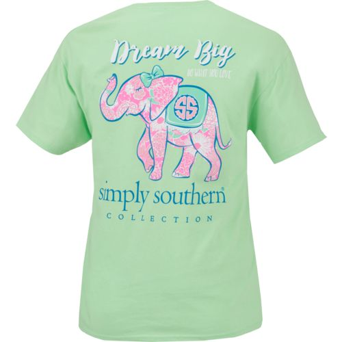 Simply Southern Women's Dream Big Elephant Graphic T-shirt