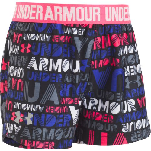 Under Armour Toddler Girls' Wordmark Block Play Up Shorts