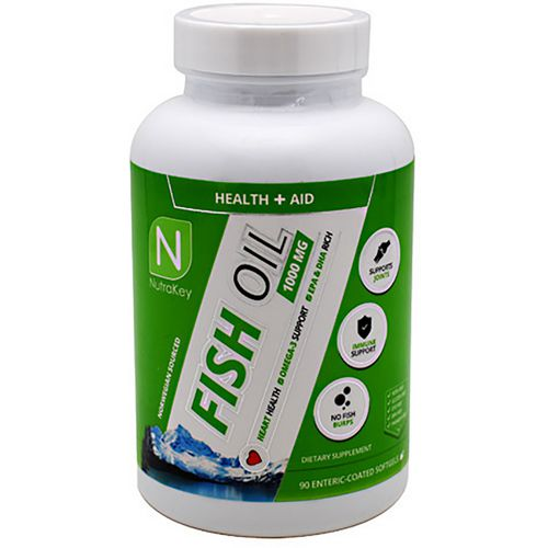 NutraKey Fish Oil 1,000 mg Softgels