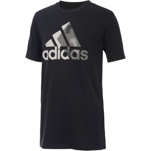 adidas Boys' climalite Badge of Sport 3 T-shirt