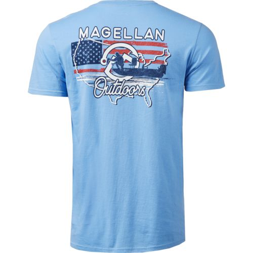 Magellan Outdoors Men's US Map Fisherman Graphic T-shirt