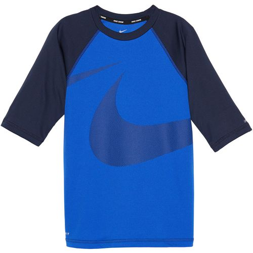Nike Boys' Swim Half Sleeve Hydroguard Rash Guard