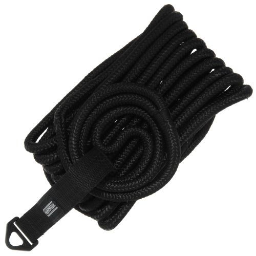 "Marine Raider 1/2"" x 25' Black Double-Braided Dock Line"