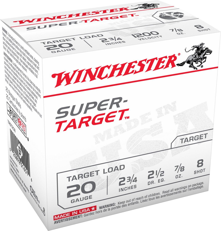 Winchester Target Load 20 Gauge 8 Shotshells