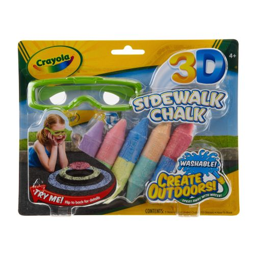 Image for Crayola 3-D Sidewalk Chalk from Academy