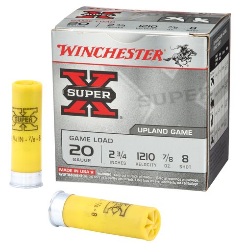 Winchester Super-X® Lead Shot Game Load 20 Gauge 8 Shotshells