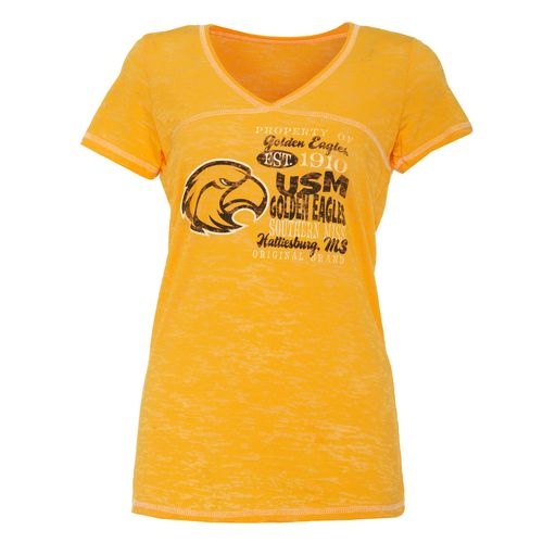 Step Ahead Blue 84 Women's Southern Mississipi Bo V-neck T-shirt