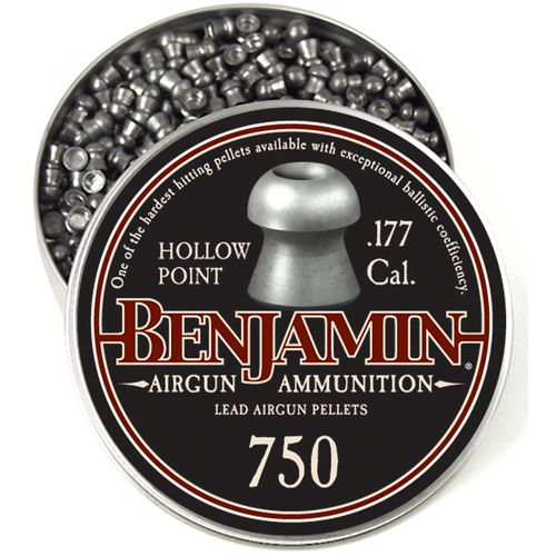 Crosman Benjamin .177 7.9-Grain Hollow Point Airgun Ammunition - view number 1