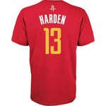 adidas™ Men's Houston Rockets James Harden #13 Game Time Flat Road T-shirt