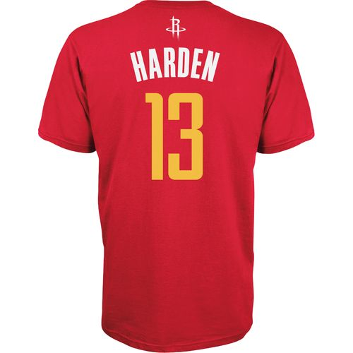 adidas Men's Houston Rockets James Harden No. 13 Game Time Flat Road T-shirt