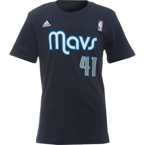 adidas™ Boys' Dallas Mavericks Dirk Nowitzki #41 Flat Gametime T-shirt