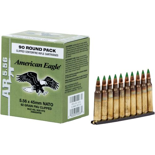 Display product reviews for Federal Premium American Eagle XM855 5.56 NATO 62-Grain Centerfire Rifle Ammunition