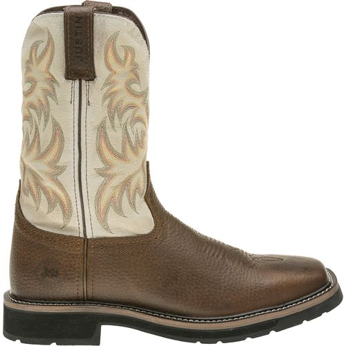 Justin Men's Copper Kettle Cowhide Western Work Boots