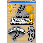 WinCraft San Antonio Spurs Championship Decal Sheet